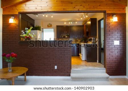 Basement and kitchen Interior design - stock photo