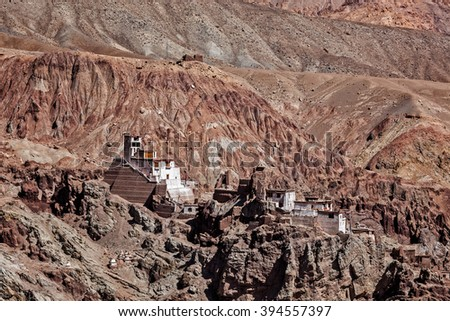 Basgo Gompa (Tibetan Buddhist monastery). Ladakh, India - stock photo