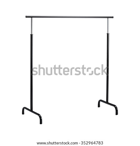 Basic adjustable garment clothing rack - stock photo