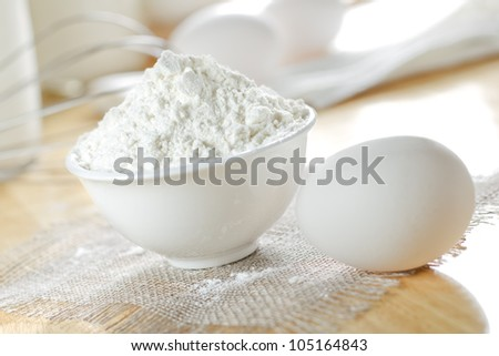 Basic ingredients for baking - stock photo