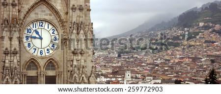 Basilica del Voto Nacional. Quito, Ecuador - stock photo
