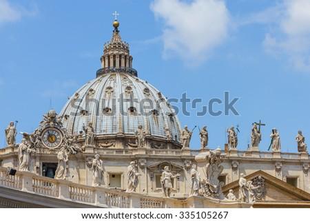 Basilica di San Pietro in the Vatican City, Rome, Italy - stock photo