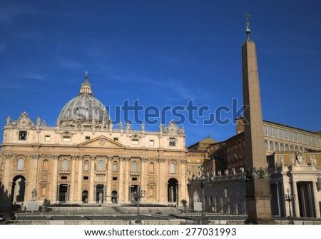 Basilica di San Pietro, Vatican City, Rome, Italy - stock photo