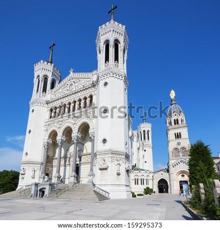 Basilica of Notre Dame de Fourviere - stock photo