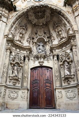 Basilica of Santa Maria del Coro.San Sebastian.Spain - stock photo