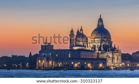 Basilica of Santa Maria della Salute, Venice - stock photo