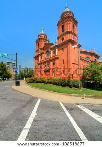 Basilica of St. Lawrence, Asheville, North Carolina, USA. - stock photo