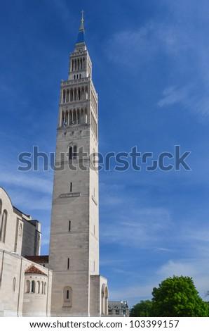 Basilica of the National Shrine of the Immaculate Conception - Washington DC United States - stock photo