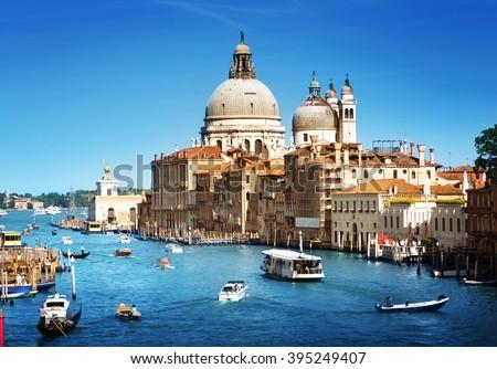Basilica Santa Maria della Salute, Venice, Italy - stock photo