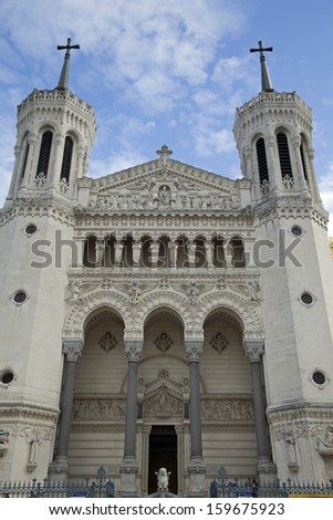 Basilique de Notre-Dame de Fourviere - stock photo