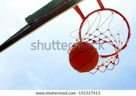 Basket hoop - stock photo
