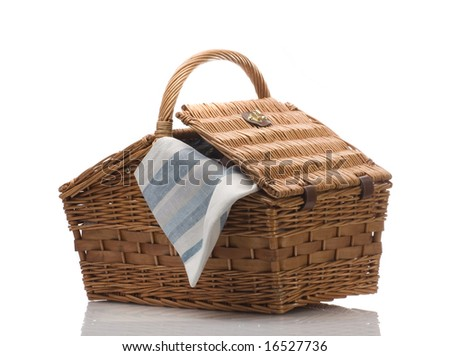 basket isolated - stock photo