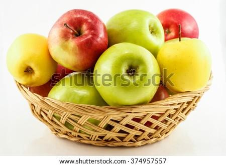 Basket of apples - stock photo
