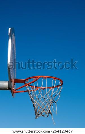 basket on a blue sky - stock photo