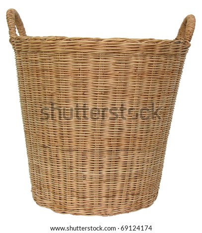 Basket wicker is Thai handmade - stock photo