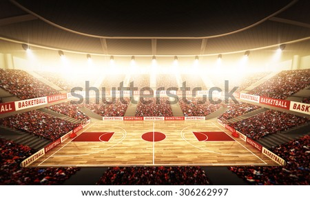 Basketball arena - stock photo