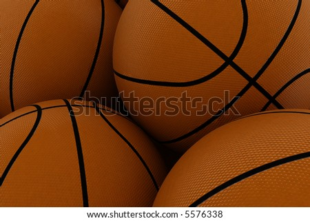 basketball background - stock photo