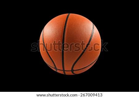 Basketball ball isolate on black background - stock photo