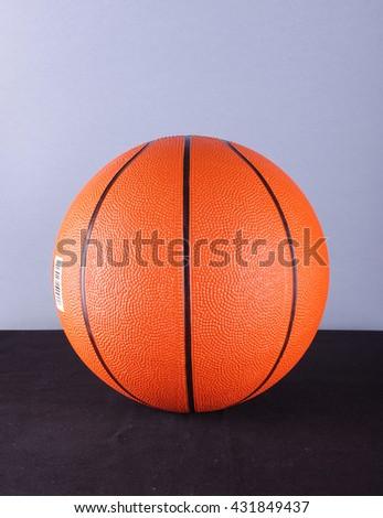 Basketball ball isolated - stock photo