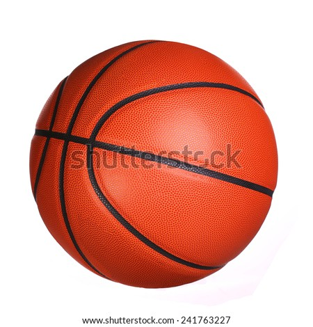 Basketball ball isolated on white background. - stock photo