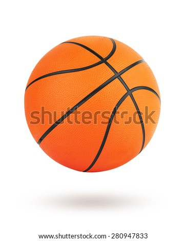 Basketball ball isolated on white background with clipping path - stock photo