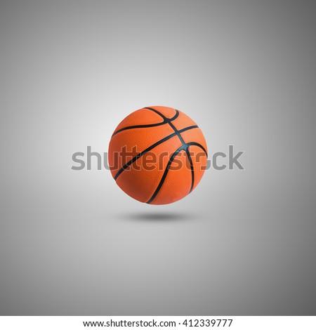 Basketball ball over white background. Basketball isolated. - stock photo