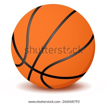Basketball ball. Raster version - stock photo