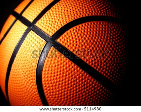 basketball close-up shot - stock photo