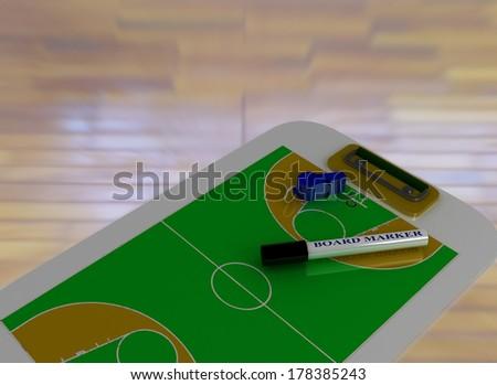 Basketball Coaching Board  - stock photo
