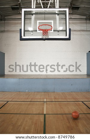 Basketball Goal & Ball - stock photo