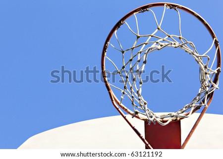 basketball goal outside - stock photo