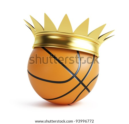 basketball gold grow on a white background - stock photo