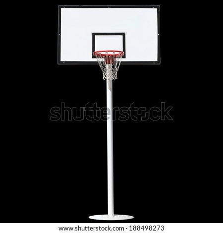 Basketball hoop isolated on a black background. - stock photo
