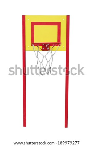 Basketball hoop isolated on a white background - stock photo