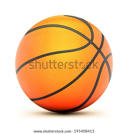 Basketball isolated ball on a white background - stock photo
