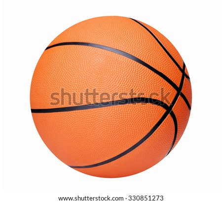 Basketball isolated over white background - stock photo