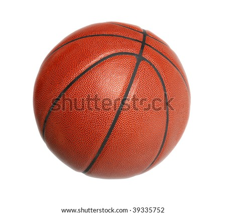 Basketball isolated over white background - stock photo