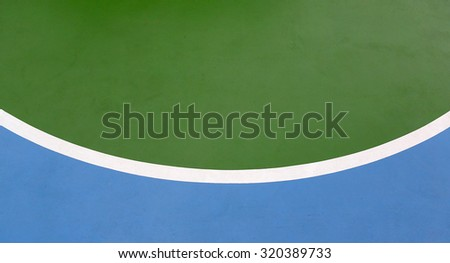 basketball lines on an outdoor court - stock photo