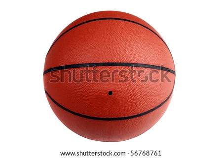 Basketball on white background - stock photo