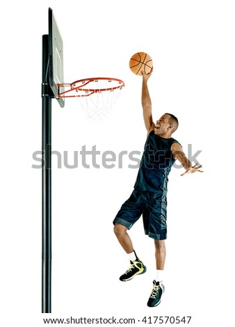 basketball player  man Isolated  - stock photo
