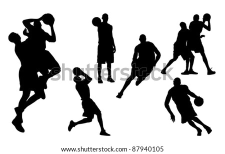 basketball players - stock photo