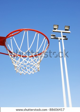Basketball rim and net - stock photo