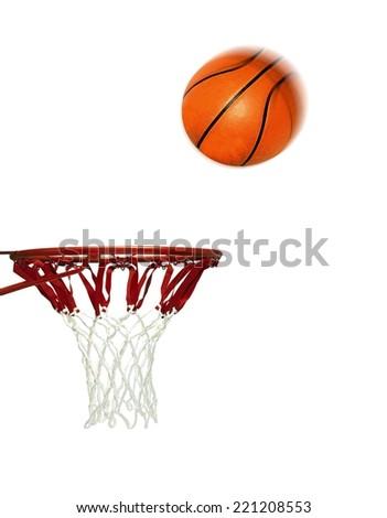 Basketball Score Shoot to Hoop - stock photo