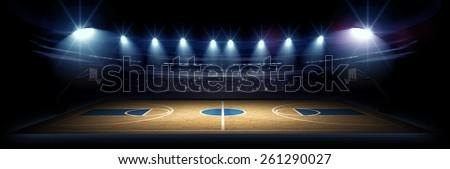 Basketball stadium - stock photo