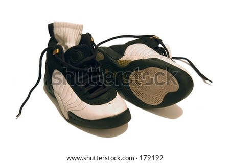 Basketball trainers - stock photo