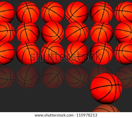 Basketballs with space for your copy. - stock photo