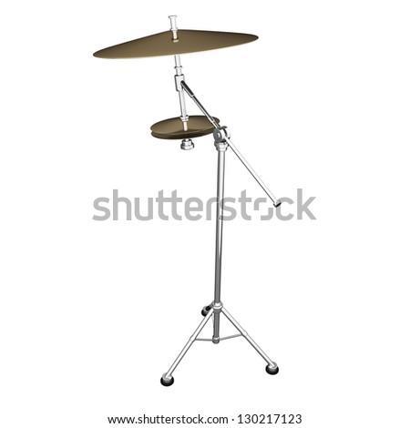 Bass drum instrument isolated over white background. High resolution 3d render - stock photo
