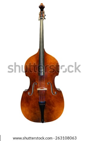 bass, wood, strings, jazz, brown, white, orchestra, double bass, contrabass, Bowed string instrument, Viola, symphony orchestra - stock photo