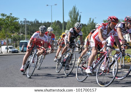 BATALHA, PORTUGAL - JUNE 10: Participate in the event of the 4th Grand Prix cycling of the municipality of Battle 2011 on June 10, 2011 in Batalha, Portugal. - stock photo