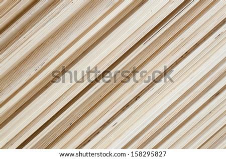 Batch of plywood closeup - stock photo